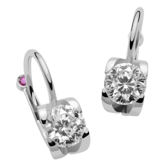 Even diamond earrings can have a hidden ruby!