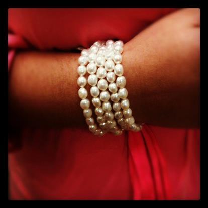 Honora 5 strand white freshwater pearl bracelets