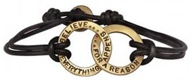 Heather moore leather bracelet