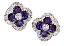 Sapphire Clover Earrings