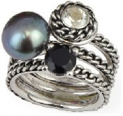 Stackable honora ring