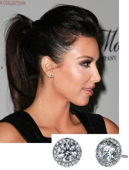 Studs- Kim Kardashian
