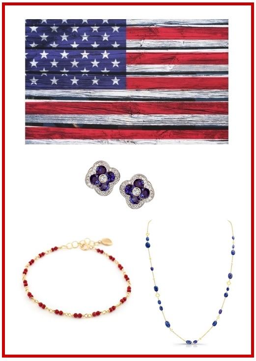 Be Patriotic with these Ruby, Diamond and Sapphire Jewels!