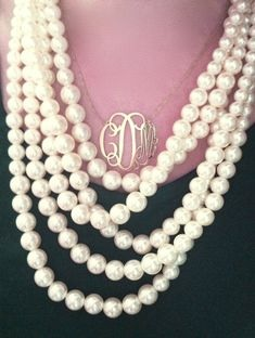 pearls and monogram