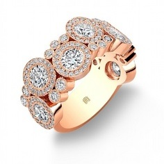 Rahmaniov rose gold bubble ring