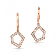 Ron Hami rose gold earrings