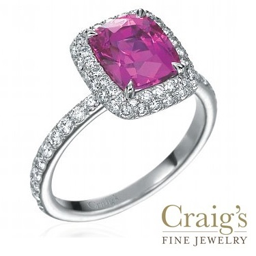 pink sapphire ring and diamond