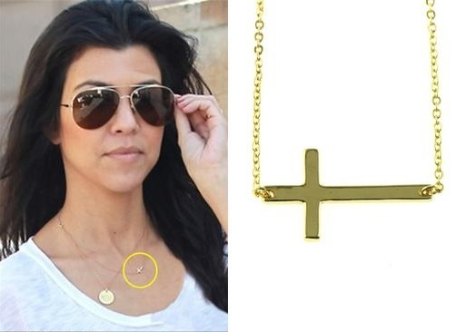 Kortney Kardashian side ways cross