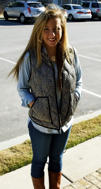 jcrew vest with monogram