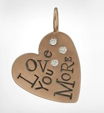Love you more heart charm